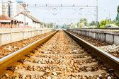 Railway close up — Stock Photo