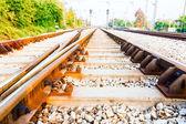 Railway close up. — Stock Photo