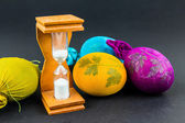 Hourglass for cooking Easter eggs — Stock Photo