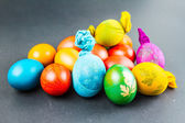 Traditional way of decorating eggs — Stock Photo