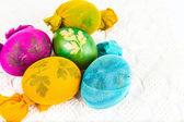 Tradizionale modo di decorare le uova — Foto Stock