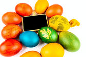 Easter eggs on white — Stock Photo