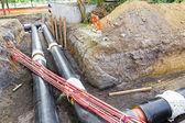 Oavslutade pipeline — Stockfoto