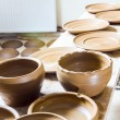 Many earthen pots kept for drying — Stock Photo #48578751