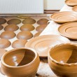 Many earthen pots kept for drying — Stock Photo #48578775
