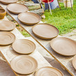 Many earthen pots kept for drying — Stock Photo #48578847