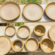 Many earthen pots kept for drying — Stock Photo #48585621