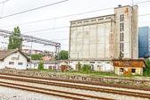 Parallel railroad tracks — Stock Photo