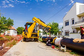 New pipeline in neighborhood — Stock Photo