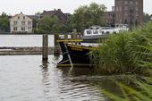Boat in Zaanse Schans, Holland — Stock Photo