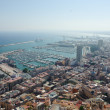Aerial view of Alicante at dusk — Stock Photo