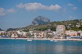 Javea Port and stone beach — Stock Photo