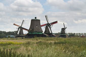 Windmills of the Zaanse Schans — Stock Photo