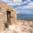 es pujols port in formentera island antique house and door — Stock Photo