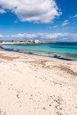 福门特拉岛岛,地中海,西班牙的 els pujols 海滩 — 图库照片