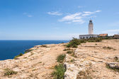 Formentera La Mota lighthouse mediterranean Sea — Stock Photo