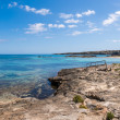 Els Pujols coastline in Formentera island, Mediterranean sea, Sp - Stock Photo