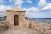 Ibiza watchtower with Eivissa port view in Balearic islands — Stock Photo