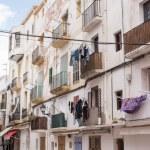 Ibiza town white facades of mediterranean village in Balearic — Stock Photo