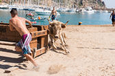 """Bous a la mar"" Javea, Spain 2013 — Stock Photo"