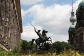 Berlin-statue von pferd und reiter — Stockfoto
