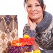 Stock Photo: Womwith Christmas Gift box
