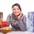 Woman with Christmas Gift box — Stock Photo #14715097
