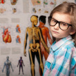 Clever pretty young girl in glasses — Stock Photo #36225233
