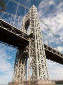 George Washington bridge support — Stok fotoğraf
