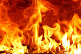 Big Flames — Stock Photo