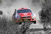 Světové rally auto — Stock fotografie