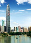 Skyscrapers in Shenzhen, China — Stok fotoğraf