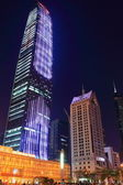 Skyscrapers in Shenzhen, China, at night — Foto Stock