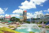 Chinese model city lift — Stock Photo