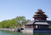 Ancient Forbidden City Wall in Beijing, China — Stock Photo