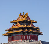 Corner Arrow Tower in Forbidden City, Beijing, China — Stock Photo