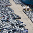 Car stockpile — Stock Photo