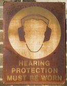 Proteção auditiva de sinal — Foto Stock