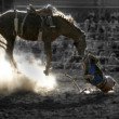Tossed cowboy — Stock Photo