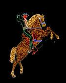 Neon cowboy Las Vegas — Stock Photo