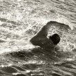 Stock Photo: Beach swimmer