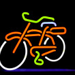 Neon bike — Stock Photo
