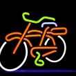 Neon bike - Stock Photo