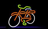 Neon bike — Stock Photo