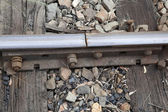 Railway line join — Stock Photo