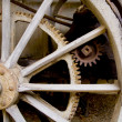 Stock Photo: Wagon wheel with gears
