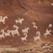 Petroglyph USA Indians — Stock Photo