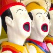 Laughing clowns — Stock Photo