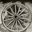 Stock Photo: Wagon wheel