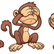 Cartoon monkeys — Stock Vector